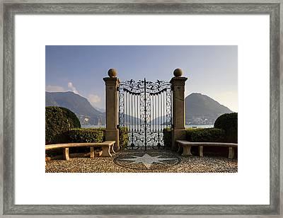 The Gateway To Lago Di Lugano Framed Print by Joana Kruse