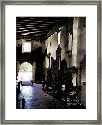 The Ghostly Nave Framed Print by Donna Greene