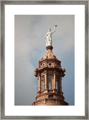 The Goddess Of Liberty In Austin Texas Framed Print