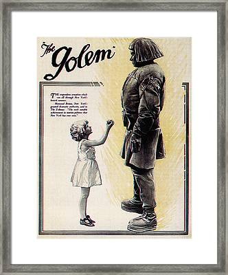 The Golem, Aka Der Golem, Wie Er In Die Framed Print by Everett