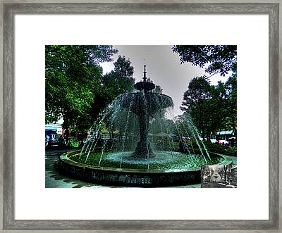 The Gore Park Fountain Framed Print by Larry Simanzik