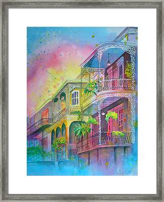 Framed Print featuring the painting The Grace Of Lace by AnnE Dentler
