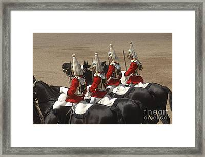 The Household Cavalry Performs Framed Print