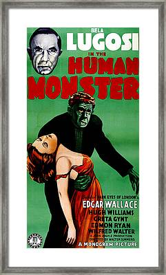 The Human Monster, Aka Dark Eyes Of Framed Print