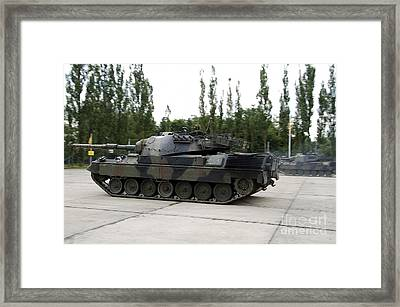 The Leopard 1a5 Of The Belgian Army Framed Print