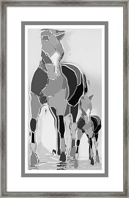 The Luck Horse And Foal Framed Print by Betsy Knapp