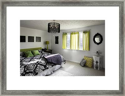 The Master Bedroom Of A House Framed Print by Christian Scully
