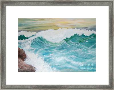 The Mighty Pacific Framed Print by Janna Columbus