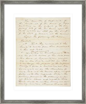 The Missouri Compromise Of 1820. This Framed Print by Everett