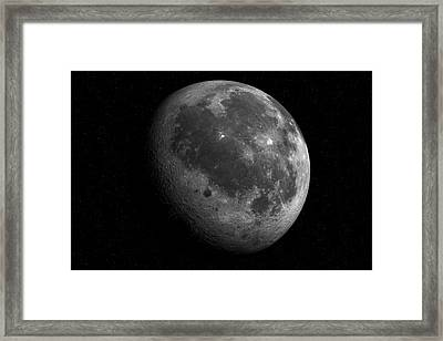 The Moon From Space Framed Print by Detlev Van Ravenswaay