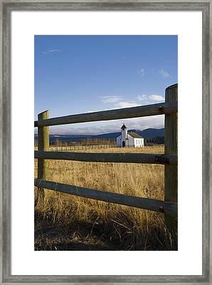 The Morley Church, Alberta, Canada Framed Print