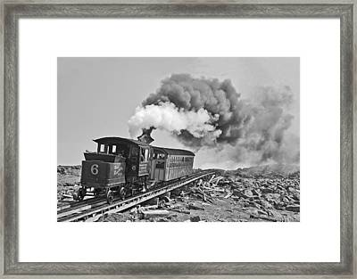 The Mount Washington Cog Railroad Framed Print by Gordon Ripley