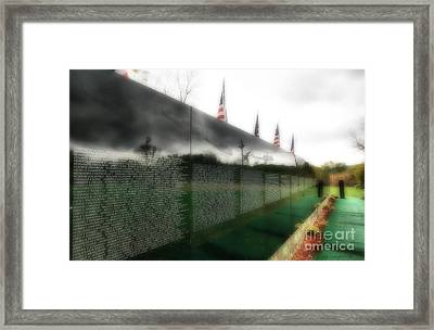 The Moving Wall Framed Print by Clare VanderVeen