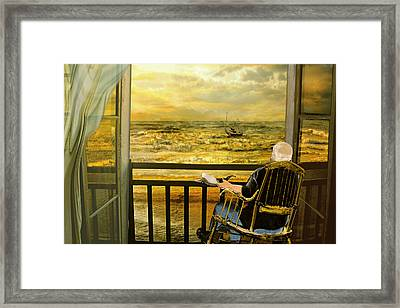 The Old Man And The Sea Framed Print by Anne Weirich