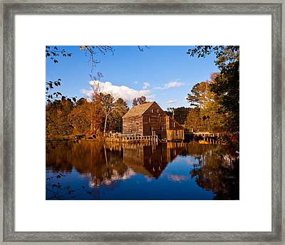 The Old Yates Mill Framed Print