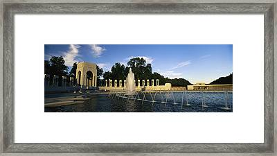 The Pacific Pavilion And Pillars Framed Print