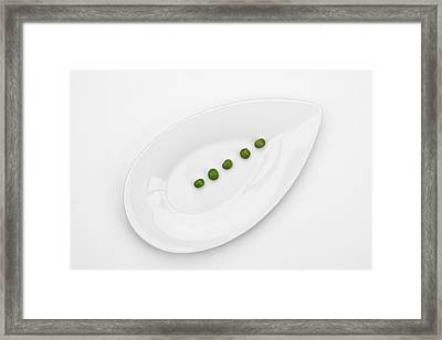 The Pea Framed Print by Joana Kruse
