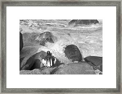 The Photographer On Location Framed Print by Heiko Koehrer-Wagner