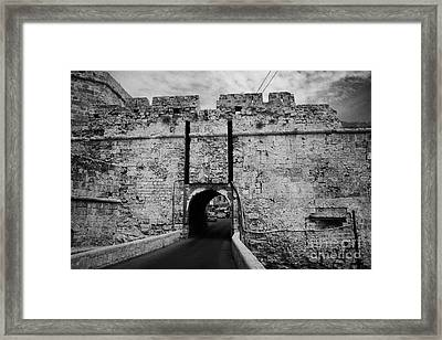 The Porta Di Limisso The Old Land Gate In The Old City Walls Famagusta Turkish Republic Cyprus Framed Print by Joe Fox