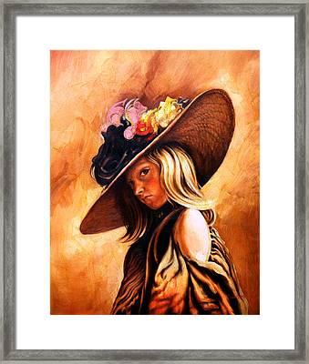 The Portrait Of A Girl Framed Print by Jivan Hovhannisian