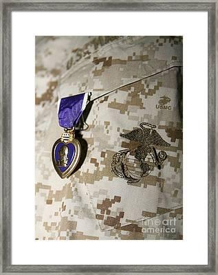 The Purple Heart Award Framed Print by Stocktrek Images