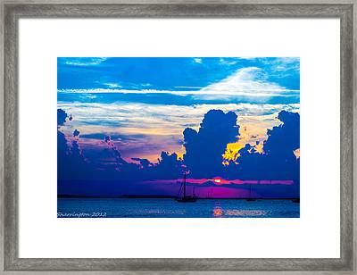 The Purple Sunset Framed Print