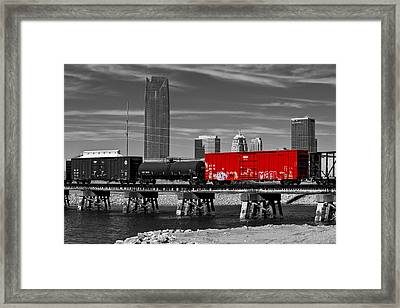 The Red Box Car Framed Print by Doug Long