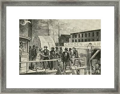 The Rescue Of Jane Johnson And Her Framed Print by Photo Researchers