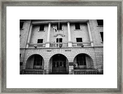 the restored nicosia post office building TRNC turkish republic of northern cyprus lefkosia Framed Print