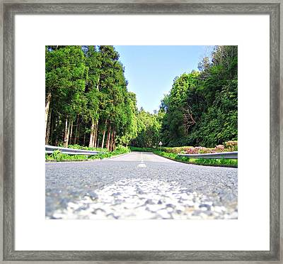 The Road Framed Print by Jenny Senra Pampin