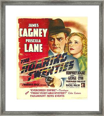 The Roaring Twenties, James Cagney Framed Print by Everett