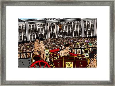 The Royal Nude Wedding Framed Print