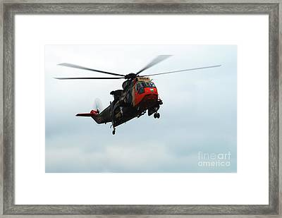 The Sea King Helicopter In Use Framed Print by Luc De Jaeger