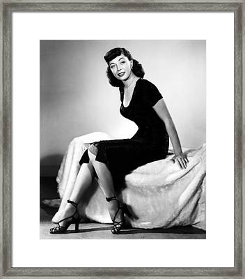 The Sniper, Marie Windsor, 1952 Framed Print by Everett