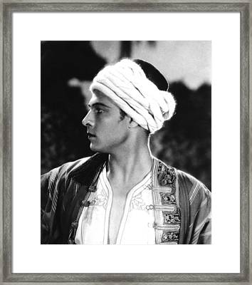 The Son Of The Sheik, Rudolph Framed Print by Everett
