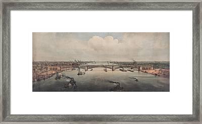 The St. Louis Bridge Now Named Eads Framed Print