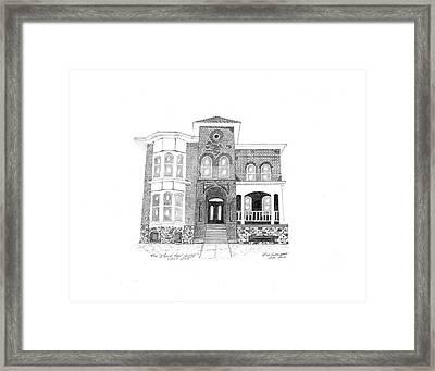 The Stockton House Framed Print by Bob and Carol Garrison