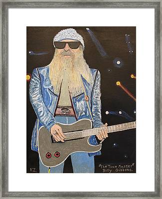 The Tone Master.billy Gibbons. Framed Print by Ken Zabel