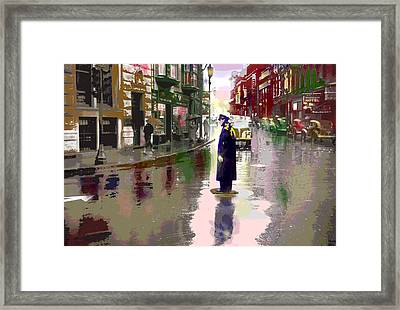 The Traffic Cop Framed Print