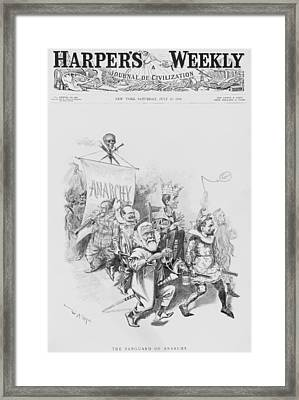 The Vanguard Of Anachy, Caricatures Framed Print by Everett