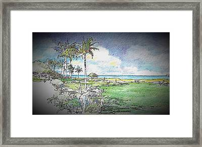 The View Framed Print by Andrew Drozdowicz