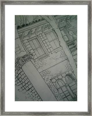 The View Framed Print by Nzephany Madrigal Uzoka