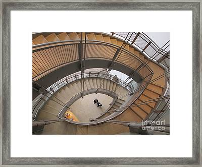 The Walters Museum Staircase Framed Print by Valia Bradshaw