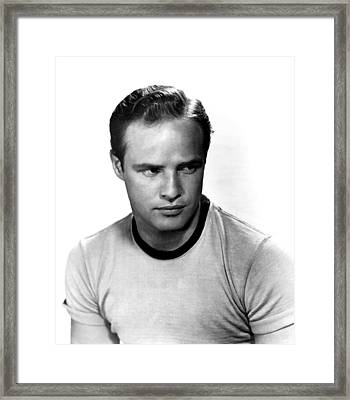 The Wild One, Marlon Brando, 1954 Framed Print by Everett