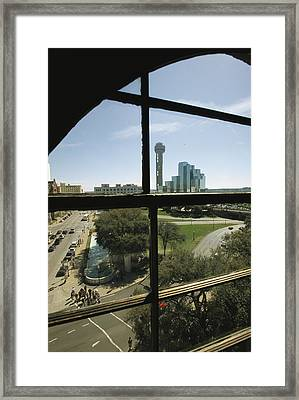 The Window From Which Lee Harvey Oswald Framed Print by Richard Nowitz