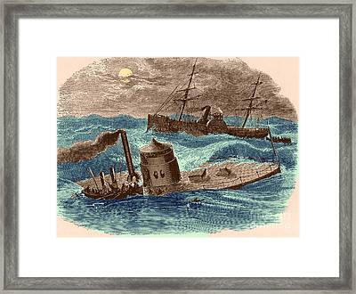 The Wreck Of The Ironclad Monitor, 1862 Framed Print by Photo Researchers