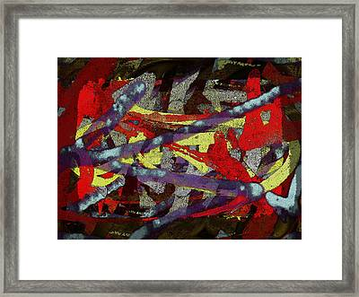 The Writing On The Wall 1 Framed Print by Tim Allen