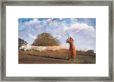 The Young Shepherdess Framed Print