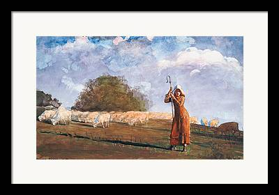 The Young Shepherdess Framed Prints