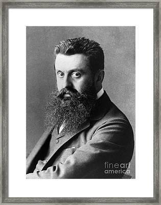 Theodor Herzl (1860-1904) Framed Print by Granger